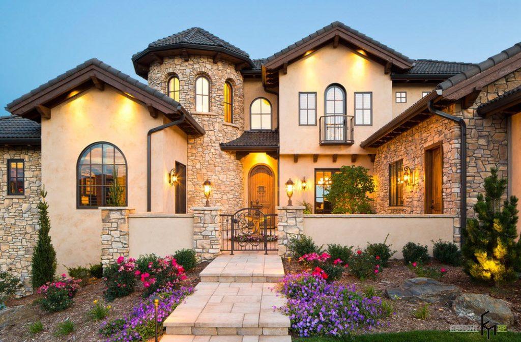 облицовки дома камнем